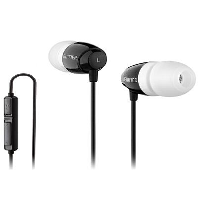 EDIFIER漫步者 K210电脑耳机双插头入耳式游戏耳麦酷黑高保真音质 高灵敏麦克风 不锈钢头梁