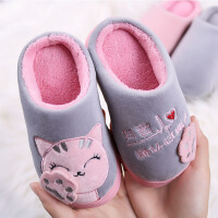 儿童棉拖鞋秋冬季男女童室内居家厚底防滑棉拖鞋可爱宝宝保暖棉鞋