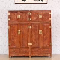 简迪红木顶箱柜卧室花梨木大衣柜组合整体衣柜实木顶箱立柜储物柜