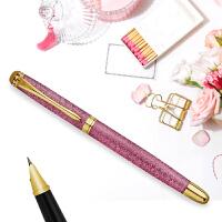 英雄(HERO)1520绒砂男女多彩细尖铱金礼品钢笔/墨水笔 钢笔 英雄钢笔 签字笔 办公文具 粉色 当当自营