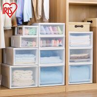 爱丽思IRIS 可叠加环保塑料收纳储物抽屉整理箱套装可组收纳柜 BC-500 BC-500s