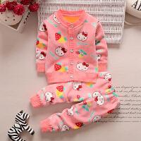 宝宝套装加绒秋款 男童女童保暖衣服1-2-3岁婴幼儿童装双面绒