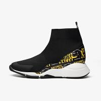 【顺丰包邮,大牌价:268】PITTI DONNA新款侏罗纪运动休闲高帮女鞋袜子靴9T42003