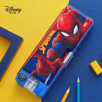 迪士尼文具盒男小�W生多功能�U�P盒女1-3年��和�塑料�P袋蜘蛛�b可�劭ㄍ��意大容量�W�文具�ЧP削�P盒