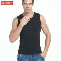 运动背心男士无袖T恤纯棉健身紧身打底肩宽肩男夏季青年修身型