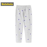 巴拉巴拉男童秋裤棉薄款儿童保暖长裤小童卡通印花睡裤中大童透气