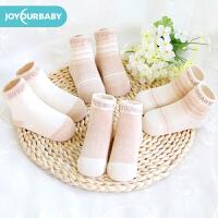 佳韵宝儿童袜子宝宝袜男童短袜婴儿袜女童棉袜婴童袜纯棉4双装