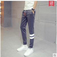 运动裤大码修身小脚运动跑步卫裤男士运动长裤薄款休闲长裤子