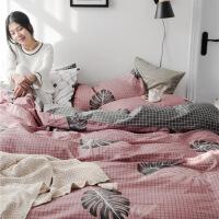 四件套棉纯棉简约床品被套三件套冬被子床单网红床上用品