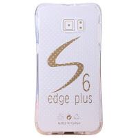 坚达 手机壳防摔软胶保护套全包边透明壳 适用于三星  S6EDGE+/PLUS  5.7寸 防摔软保护壳