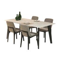 餐桌 北欧实木大理石餐桌 现代简约长方形饭桌 小户型桌 定制家具