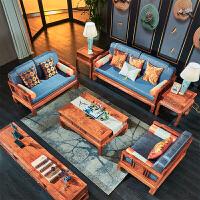 新中式沙发 客厅组合木明清古典家具整装 全实木 组合