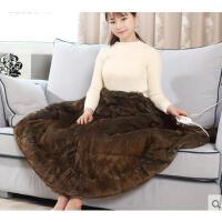 细腻柔软舒适兔毛绒电热蝙蝠毯电暖电热垫 精致经久耐用电热披肩暖身护膝毯