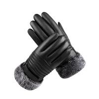 皮手套男士冬季加绒加厚防风防水骑行摩托车触屏保暖骑车棉手套女 均码