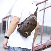 男士胸包休闲单肩包斜挎包跨斜包青年韩版潮流运动休闲胸前小背包