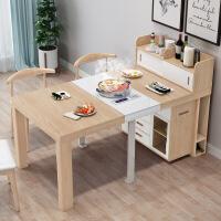 餐桌电磁炉可折叠小户型省空间多功能伸缩桌子家用饭桌餐边柜带