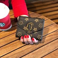 新款欧美小钱包女短款迷你2018新款百搭印花折叠牛皮钱夹