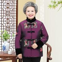 中老年棉服 女士加绒加厚唐装外套2020年冬季新款民国风时尚潮流女式宽松洋气女装奶奶装