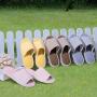富安娜 家居软底木地板无声室内拖鞋男女 棉拖鞋 时尚日式家居鞋