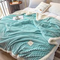 双层毛毯被子加厚冬季午睡毯珊瑚绒单人小毯子法兰绒床单学生宿舍