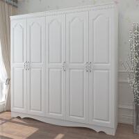 现代欧式实木2门板式衣柜简约白色3门整体组合4门衣橱柜子5门