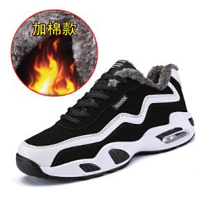 新款男鞋秋冬季男士运动休闲鞋加绒保暖棉鞋韩版潮流鞋子男