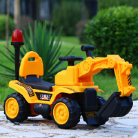 儿童挖掘机可坐可骑电动挖土机男孩玩具车工程车钩机推土铲