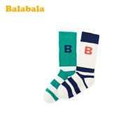 巴拉巴拉儿童棉袜春季新款宝宝短袜男女童袜子小童两双装弹力透气