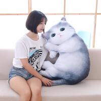 仿真立体小猫咪公仔抱枕毛绒玩具创意玩偶汽车沙发靠垫生日礼物女