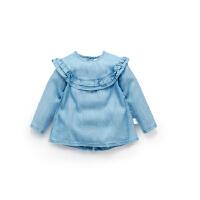加菲宝贝 GAFFEY KITTY 新款夏季女童短袖小衫GKA1006