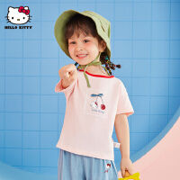 【 2件3折价:32.7元 可叠加券】hellokitty童装夏装新款女童短袖T恤儿童宝宝婴儿凯蒂猫上衣