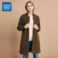 [尾品汇:173.9元,18日-23日10点]真维斯女装 冬装 混纺呢绒布外套
