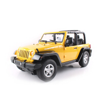 【当当自营】美致模型1:9USB充电吉普遥控车枪式遥控儿童汽车玩具2060黄色