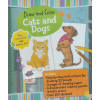 Draw and Color: Cats and Dogs 素描与色彩:猫狗 ISBN9781607103264