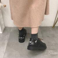 学生百搭日系软妹单鞋秋冬季新款chic英伦风复古加绒小皮鞋女