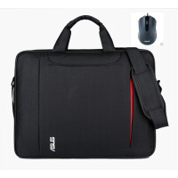 华硕电脑包笔记本包14寸15.6寸联想戴尔17.3男女手提单肩斜挎防震