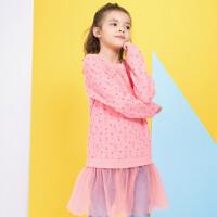 【到手价:39元】加菲猫童装女童加绒卫衣裙GGW17402