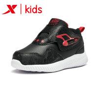 特步童鞋幼童健康鞋2018冬季新款防水保暖休闲鞋男童682415112598