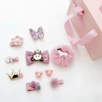 儿童发饰套装礼盒宝宝发夹女童发卡头饰公主淑女头花饰品
