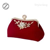 女包手拿包新款新娘包包结婚包红时尚日韩晚宴包链条潮手提SN1677
