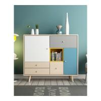 北欧格调客厅餐厅储物柜组合柜子储物柜客厅家具装饰柜玄关柜 2017新款色 6门以上