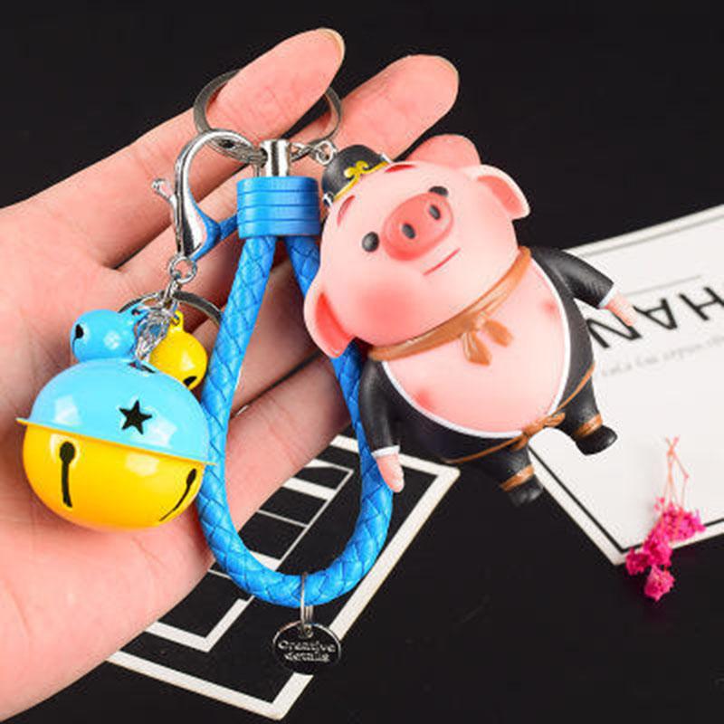 萌味 钥匙扣 创意可爱卡通公仔汽车钥匙扣女款 可爱创意情侣钥匙挂件男女钥匙圈萌 【多色可选】【包邮】