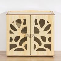 桌面防尘木质收纳盒子 化妆品面膜储物盒 日式多层抽屉小柜子娃屋 橡木 收纳盒