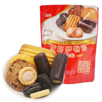 波路梦/布尔本物语6口味56g组合休闲饼干*4袋
