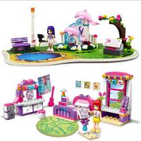 积木塑料拼插女孩拼装玩具儿童益智力5-6-7-8-10岁生日礼物