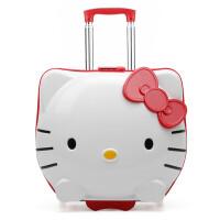 儿童拉杆箱宝宝行李箱万向轮卡通小学生旅行箱可爱女童19寸登机箱 19寸【箱套、贴纸和行李牌】