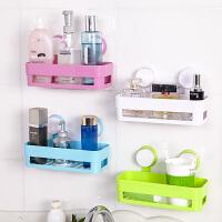 浴室方形强力双吸盘置物架 浴室卫生间收纳架 颜色随机