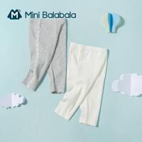 迷你巴拉巴拉女童七分裤打底裤2021夏季新款透气弹性柔软舒适裤子