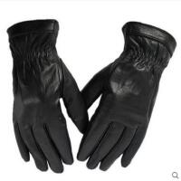 男士手套秋冬季保暖防寒开车韩版长款加大号真皮手套多号码