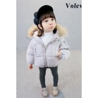 女童装韩版棉袄女宝宝0-1-2-3岁面包服羽绒棉加厚保暖外套